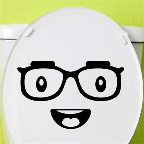 Smiley Deco Sticker by Sticker Toilettes Smiley Avec Des Lunettes Stickers