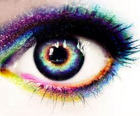 colorful eye colorful on