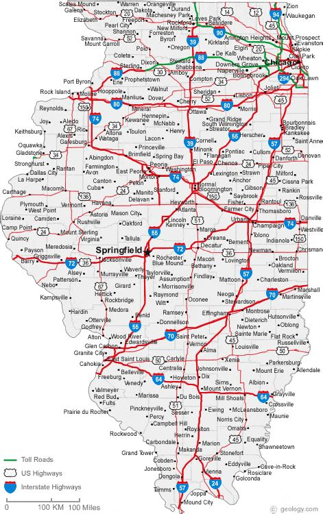 Cities In Illinois Map by Map Of Illinois Cities Illinois Road Map