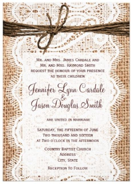 western wedding invitations with lace western wedding ideas westerns weddings