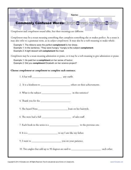complementation patterns english verbs subject complements worksheet photos leafsea