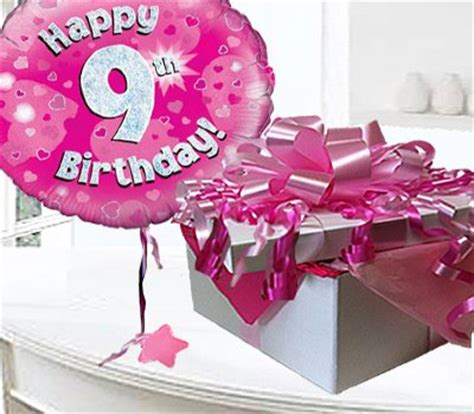 Happy Birthday Wishes For 9 Years Happy 9th Birthday Balloon In A Box Code Jgf8h8bbb 9