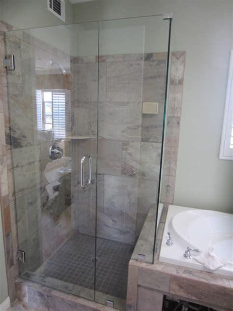 Framed Bathroom Mirrors Ideas frameless shower enclosure hillcrest patriot glass and
