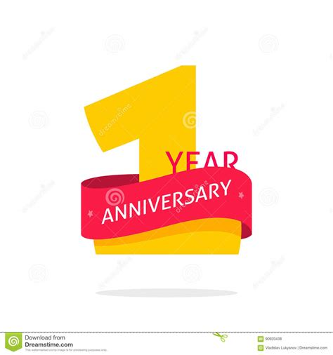 1 year anniversary logo 1st anniversary icon label one