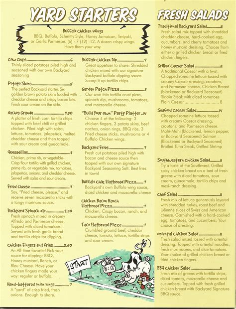 backyard grill and bar menu