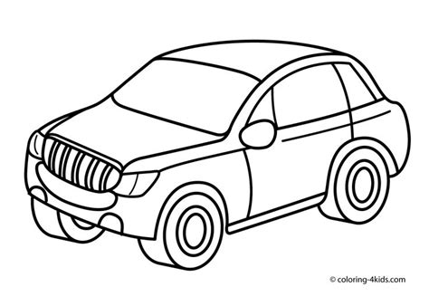 Printable Car jeep car transportation coloring pages for printable