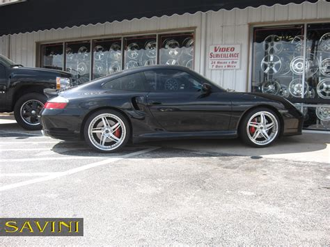 black porsche 996 996 savini wheels