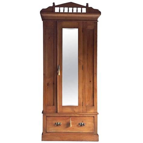 antique armoire with mirror antique wardrobe dresser satin walnut edwardian mirror