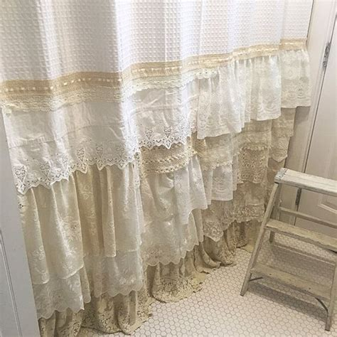 shower curtain shabby chic 26 adorable shabby chic bathroom d 233 cor ideas shelterness