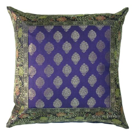 throw pillows for bed 16 quot purple silk brocade throw pillow sham for sofa bed