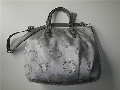 Gc082 Tas Fashion Import Tote Pouch Metalic Gray Coach Dotted Op C Gray Lg Gallery