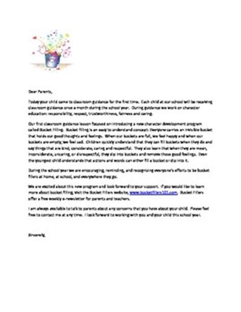 Parent Letter Fillers Fillers Parent Letter