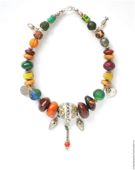 Rnb Etnic F 04 ethnic necklace different countries large africa shop on livemaster with