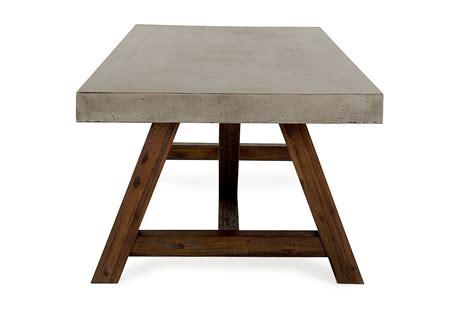 Modern Concrete Dining Table Modrest Revok Modern Concrete Acacia Dining Table Modern Dining Dining
