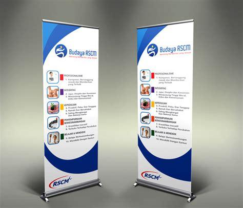 design x banner distro simple studio online desain roll up banner rumah sakit