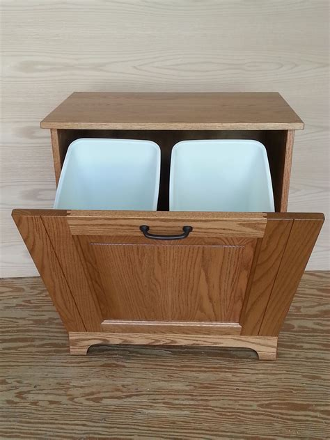 double garbage can cabinet four seasons furnishings amish made furniture amish made