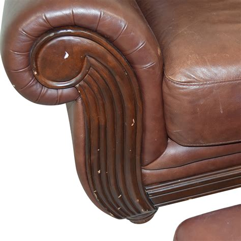 rooms to go chair and ottoman 54 rooms to go rooms to go brown leather chair and