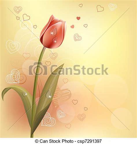 La Tulipe Contour illustrations vectoris 233 es de pastel fond tulipe contour