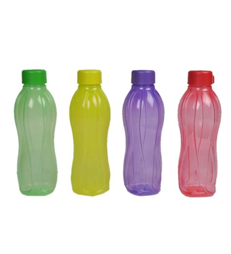 Tupperware Botol 1 Liter tupperware 1 litre water bottle set of 4 bottles shaped coloured by tupperware