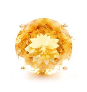 citrine color large 8 carat citrine ring 14k yellow gold from