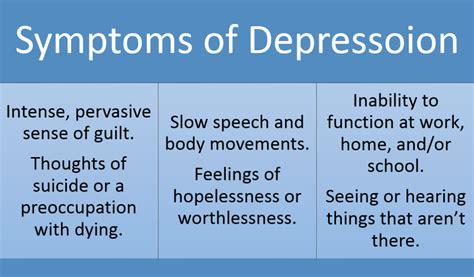 depression symptoms depression symptoms