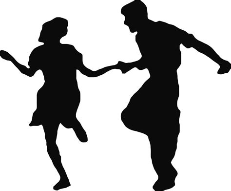 swing dance silhouette quot swing dancing couple quot stickers by thejanitormafia redbubble