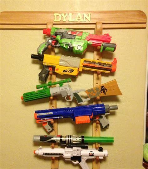 Nerf storage ideas!   A girl and a glue gun