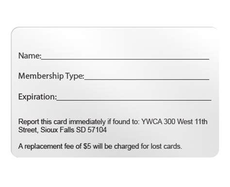 membership id card template custom plastic membership cards and reward cards