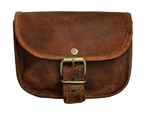 gusti leather genuine bum bag purse belt hip travel neck