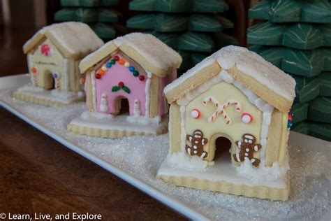 mini gingerbread house mini winter gingerbread houses though not made with gingerbread learn live and