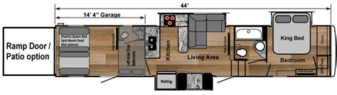 Fuzion Toy Hauler Floor Plans by Fifth Wheel Toy Hauler Floor Plans Ourcozycatcottage Com