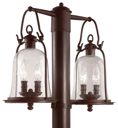 Owings Mill Collection 21 Quot Wide Outdoor Double Post Light Outdoor Lantern Post Lights