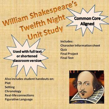 Shakespeare's Twelfth Night   Twelfth night, Common cores