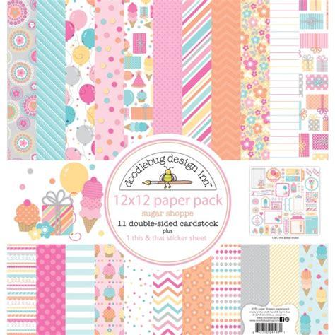 doodlebug scrapbook doodlebug design sugar shoppe collection 12 x 12 paper