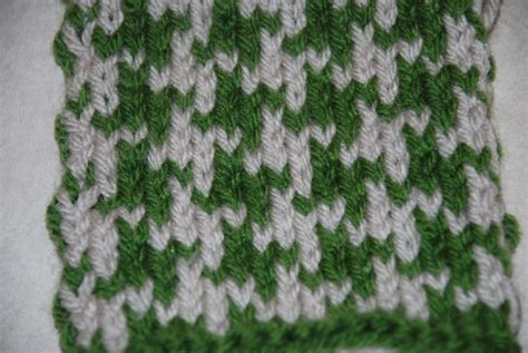 how to knit houndstooth how to knit two color houndstooth pattern