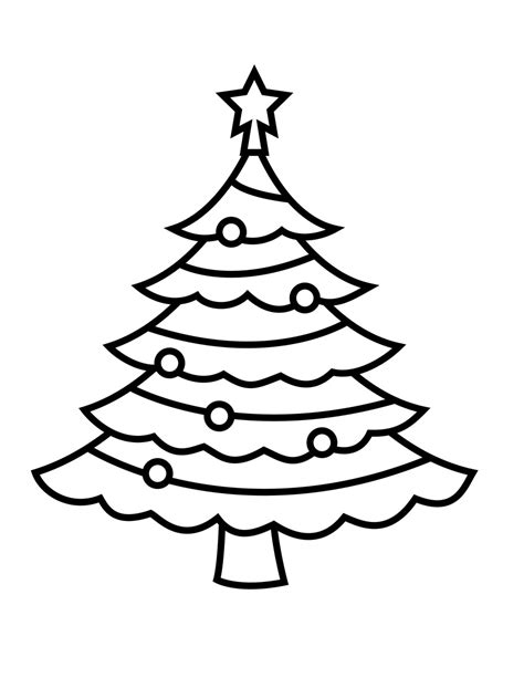 simple christmas tree coloring pages christmas tree coloring pages