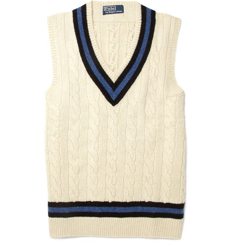 cable knit sleeveless sweater polo ralph sleeveless cable knit cricket sweater in