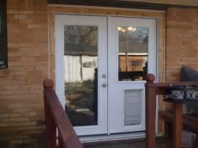 glass door with pet door built in the useful french door with doggie door ideas new home