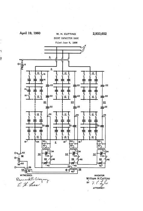 shunt reactor vs capacitor bank patent us2933652 shunt capacitor bank patents