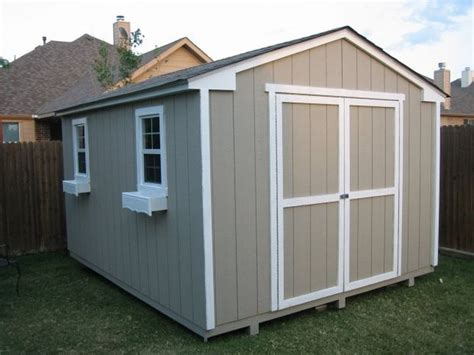 improve the looks of a storage shed