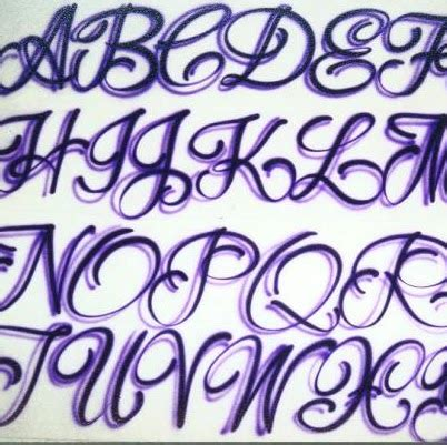 tattoo writing styles lettering styles alphabet