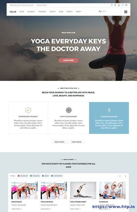 wordpress themes yoga teachers 25 best yoga wordpress theme for yoga instructors 2017