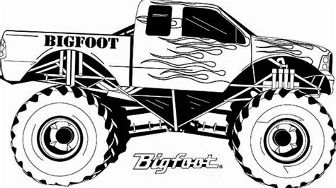 bigfoot monster truck coloring pages monster truck monster truck bigfoot flames coloring