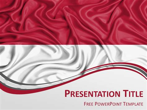 design powerpoint indonesia free powerpoint template with flag of indonesia background