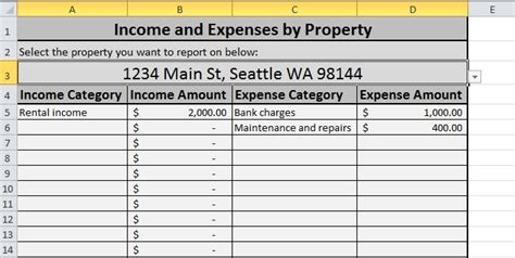 property management spreadsheet template excel free expense tracking spreadsheet for your rentals we ve