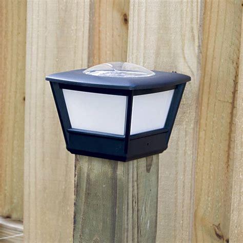 solar fence post light 4x4 fence post solar light by free light 4x4 post cap