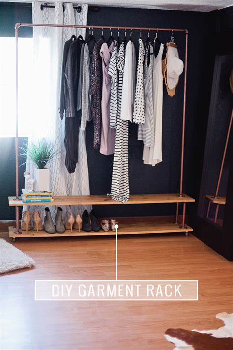 rolling diy garment rack for your wardrobe fresh