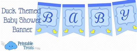 Duck Baby Shower Banner by Duck Baby Shower Banner Printable Treats
