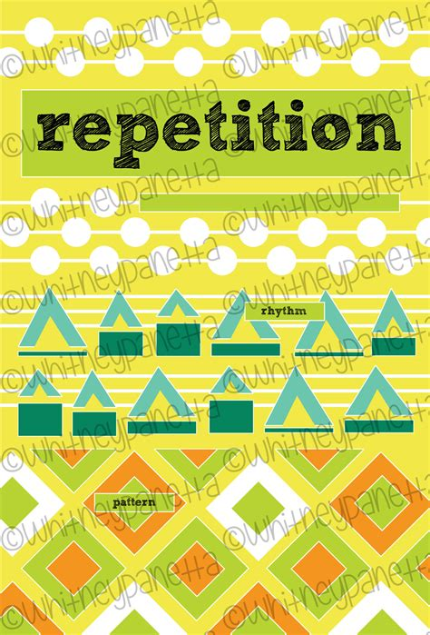 pattern repetition art education principles of design poster pack look