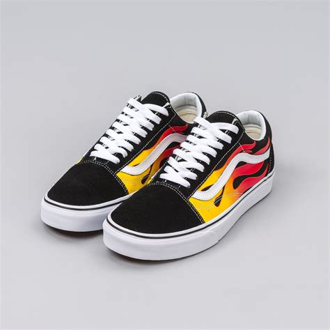 The Enligne Flames Shoes vans skool